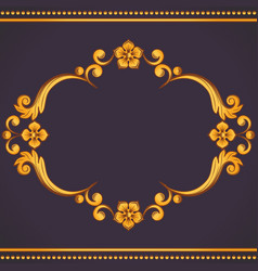 ornamental vintage frame in vector image
