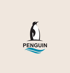 penguin bird icon vector image