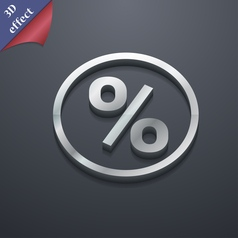 Percentage discount icon symbol 3D style Trendy vector