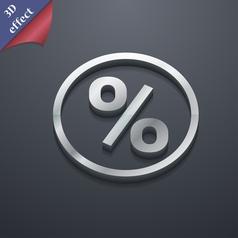 percentage discount icon symbol 3D style Trendy vector image