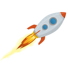 Rocket ship vector
