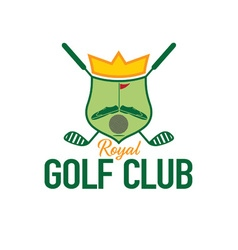 Royal golf club crest vector