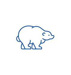 russian bear line icon concept russian bear flat vector image