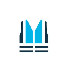 safety vest icon colored symbol premium quality vector image