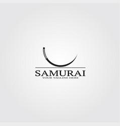 Samurai sword logo template logo for business vector