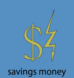Saving money economy icon vector image