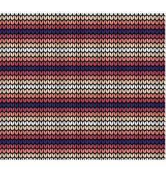 seamless horizontal knitting pattern vector image