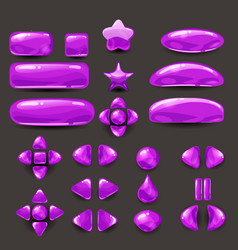 set game ui complete purple menu of graphical vector image