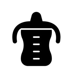 Silhouette toddler spout cup with twin handle vector