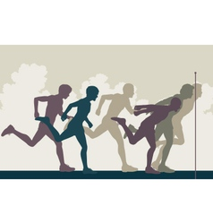 Sprint finish vector image