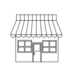 store market shop exterior window door vector image