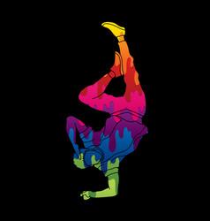 street dance b boys dance dancing action vector image
