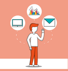 success business creative vector image