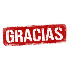 Thank you on spanish language gracias sign vector