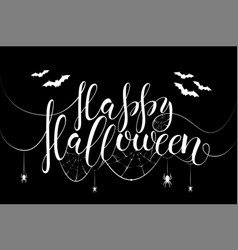 thematic postcard to helloween with unique vector image