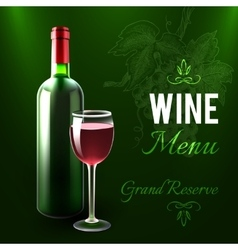 Wine Menu Template vector