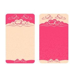 card Happy Valentines Day and wedding day vector image vector image