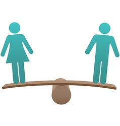Equal male female sex equality balance vector image vector image