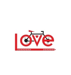 Bicycle in love vector image vector image