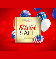 memorial day sale promotion advertising banner vector image vector image