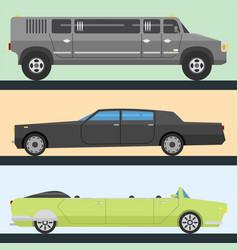 Detailed luxury limousine long car vector