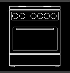 kitchen stove the white path icon vector image vector image