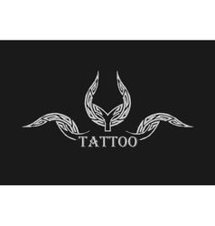 Abstract tattoo black grunge symbol vector