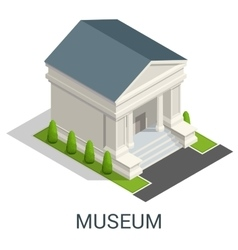 Cultural history city center museum exhibits vector image