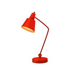 desk lamp set modern cartoon colorful vector image vector image