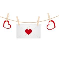 hearts clothespins 11 vector image vector image