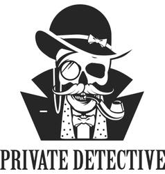 private investigator Skull vector image
