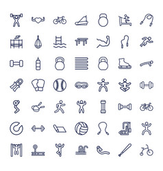 49 exercise icons vector
