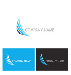 abstract wing speed company logo vector image
