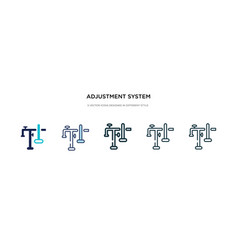 adjustment system icon in different style two vector image