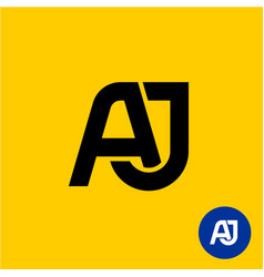 Aj letters symbol a and j letters ligature vector