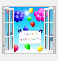 background with colorful balloons vector image