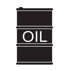 barrel oil icon on white background flat style vector image