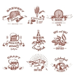 Beer Vintage Style Emblems vector
