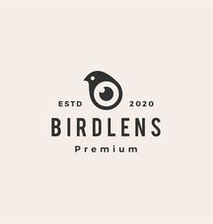 bird lens hipster vintage logo icon vector image