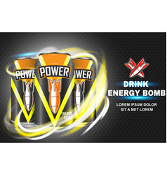 Bomb energy drink concept vector