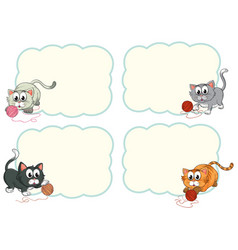 border templates with cute kittens vector image