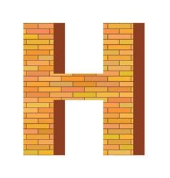 brick letter H vector image