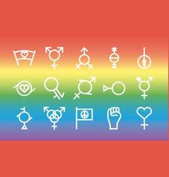 Bundle fifteen gender symbols sexual vector