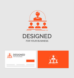 Business logo template for business coach course vector