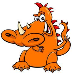 Cartoon dragon funny fictional character vector