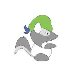 Cartoon style badger mascot vector