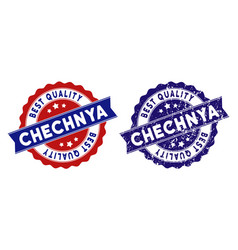 Chechnya best quality stamp with grungy texture vector