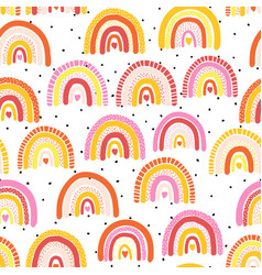 childish seamless pattern with colorful hand drawn vector image