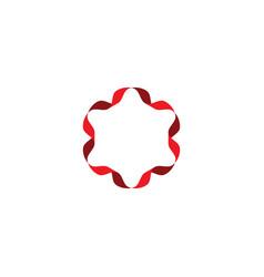 Circle ribbon red frame icon symbol element vector