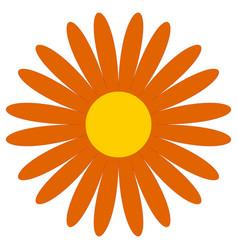 Classic flower clip-art simple orange daisy vector